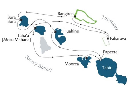 LUXURY CRUISE - Balconies-Suites Cruises Paul Gauguin January 6-16 2019 Papeete, Tahiti, Society Islands to Papeete, Tahiti, Society Islands