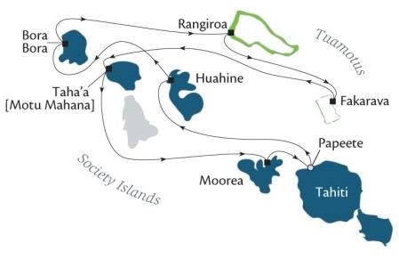 Singles Cruise - Balconies-Suites Cruises Paul Gauguin November 2-12 2019 Papeete, Tahiti, Society Islands to Papeete, Tahiti