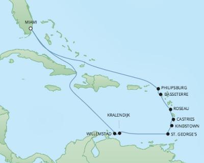 Just Regent Cruises Cruises RSSC Regent Seven Explorer Map Detail Miami, FL, United States to Miami, FL, United States December 20 2017 January 3 2018 2017 - 14 Days