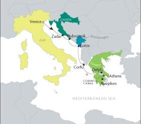 Luxury World Cruise SHIP BIDS Tere Moana July 30 August 6 2023 Venice, Italy to Piraeus, Greece