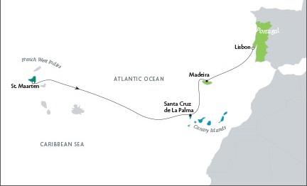Luxury World Cruise SHIP BIDS Tere Moana March 26 April 9 2023 Philipsburg, Sint Maarten to Lisbon, Portugal