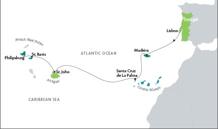 Luxury World Cruise SHIP BIDS Tere Moana November 12-26 2023 Lisbon, Portugal to Philipsburg, Sint Maarten