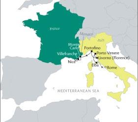 HONEYMOON Tere Moana October 22-29 2020 Rome, Italy to Nice, France