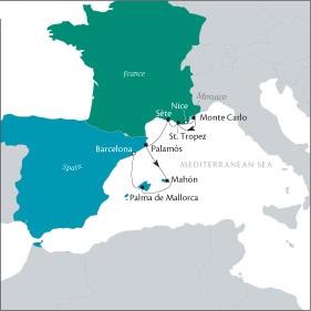 LUXURY CRUISE - Balconies-Suites Cruises Tere Moana October 29 November 5 2019 Nice, France to Barcelona, Spain