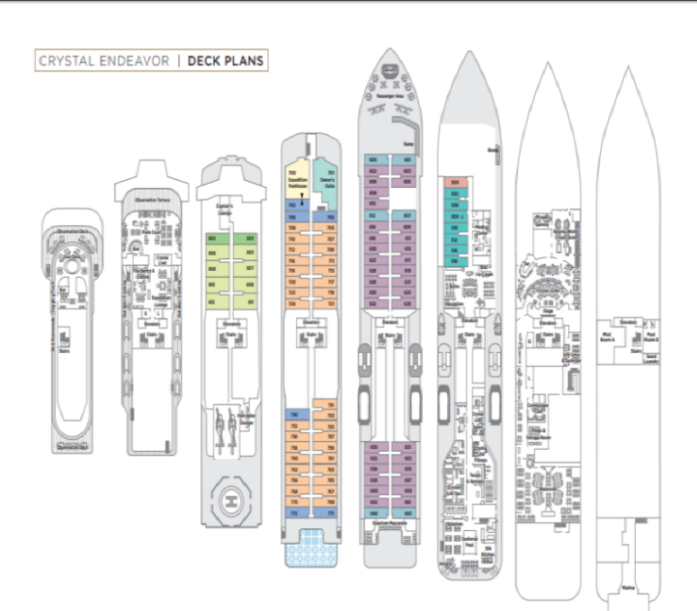 Crystal Endeavor Cruises deck plan