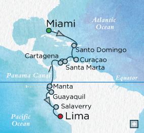 ALL SUITE CRUISE SHIPS - Crystal Cruises Serenity 2015 Panama Panorama Map
