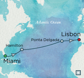 ALL SUITE CRUISE SHIPS - Crystal Cruises Serenity 2015 Classic Atlantic Crossing Map