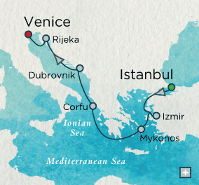 ALL SUITE CRUISE SHIPS - Crystal Cruises Serenity 2015 Adriatic Adventure Map