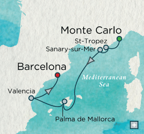 ALL SUITE CRUISE SHIPS - Crystal Cruises Serenity 2022 Sybaritic Sojourn Map