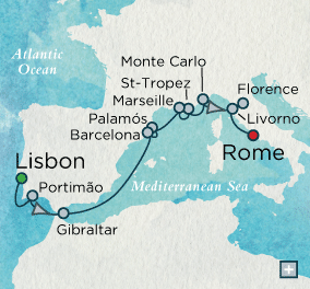 ALL SUITE CRUISE SHIPS - Crystal Cruises Serenity 2015 Artists & Explorers Map