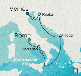 ALL SUITE CRUISE SHIPS - Crystal Cruises Serenity 2015 Ionian Inspiration Map