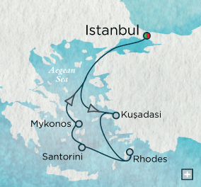 ALL SUITE CRUISE SHIPS - Crystal Cruises Serenity 2018 Vistas of the Aegean Sea Map