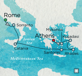 ALL SUITE CRUISE SHIPS - Crystal Cruises Serenity 2018 Myths and Monuments Map