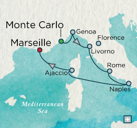 ALL SUITE CRUISE SHIPS - Crystal Cruises Serenity 2015 Renaissance Rendezvous Map