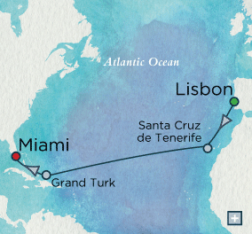 ALL SUITE CRUISE SHIPS - Crystal Cruises Serenity 2018 Across the Sea of Atlas Map