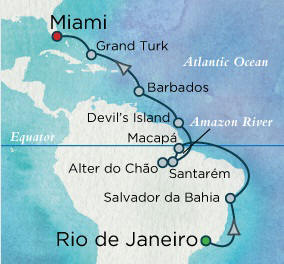 LUXURY CRUISES - Balconies and Suites Crystal Serenity Cruises Rio de Janeiro, Brazil to Miami, Floria - 16 Days