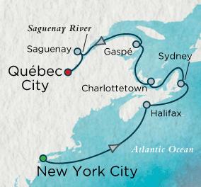 7 Seas Luxury Cruises - Autumn in the Maritimes Map Crystal Cruises Serenity World Cruise