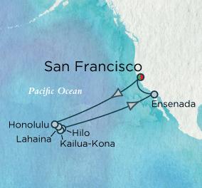 7 Seas Luxury Cruises - Hawaiian Serenade Map Crystal Cruises Serenity World Cruise
