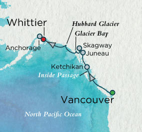7 Seas Luxury Cruises - Alaskan Inspirations Map Crystal Cruises Serenity World Cruise