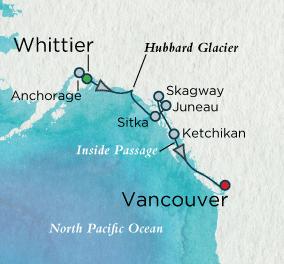 LUXURY CRUISE - Balconies-Suites Alaska Discovery Map Luxury Cruise Balconies-Suites Crystal Cruises Serenity 2019 World Cruise