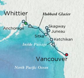 Alaskan Vistas Map Crystal Luxury Cruises Serenity 2023 World Cruise