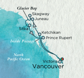 7 Seas Luxury Cruise - Grandeur of Alaska Map Crystal Luxury Cruise Serenity World Cruise