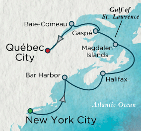 7 Seas Luxury Cruises - French Canadian Jubilee Map Crystal Cruises Serenity World Cruise