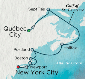 7 Seas Luxury Cruises - New England Interlude Map Crystal Cruises Serenity World Cruise