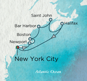 7 Seas Luxury Cruise - Fall's Crimson Foliage Map Crystal Cruises Serenity World Cruise