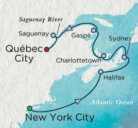 7 Seas Luxury Cruises - Autumn in the Maritimes Map Crystal Cruises Serenity World Cruise