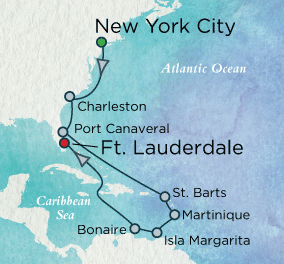7 Seas Luxury Cruise - Colonial Charms & Idyllic Isles Map Crystal Luxury Cruise Serenity World Cruise