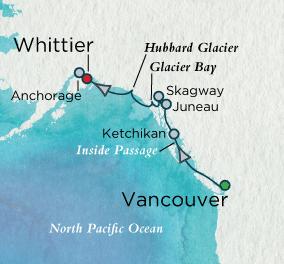 7 Seas Luxury Cruise - Glacier Splendors Map Crystal Luxury Cruise Serenity World Cruise