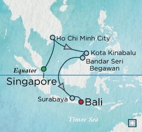 LUXURY CRUISES - Balconies and Suites Crystal Cruises symphony 2018 Southeast Asia Sojourn Map