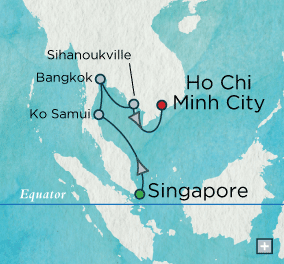 ALL SUITE CRUISE SHIPS - crystal cruises symphony 2015 Indochine Discovery: Crystal Getaways Map