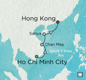 crystal cruises symphony 2015 Indochine Discovery: Crystal Getaways Map