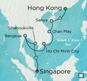 ALL SUITE CRUISE SHIPS - crystal cruises symphony 2018 Pagodas & Palaces Map