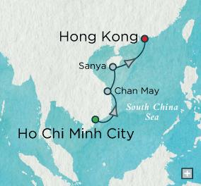 Crystal Luxury Cruises symphony 2022 Oriental Embrace: Crystal Getaways Map