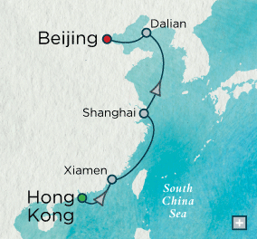 LUXURY CRUISES - Balconies and Suites Crystal Cruises symphony 2018 China in Depth Map