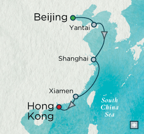 LUXURY CRUISES - Balconies and Suites Crystal Cruises symphony 2018 A Connoisseur's China Map
