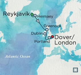 LUXURY CRUISES - Balconies and Suites Crystal Cruises symphony 2018 Trans-Atlantic Treasures: Crystal Getaways Map