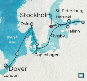 ALL SUITE CRUISE SHIPS - crystal cruises symphony 2018 Scandinavian Splendor Map