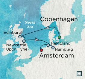 ALL SUITE CRUISE SHIPS - crystal cruises symphony 2015 Noble North Sea Map