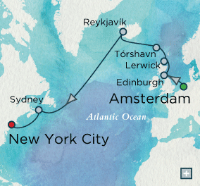ALL SUITE CRUISE SHIPS - crystal cruises symphony 2022 Northern Isle Crossing Map