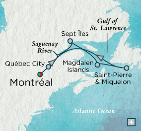 ALL SUITE CRUISE SHIPS - crystal cruises symphony 2015 Joie de Canada Map