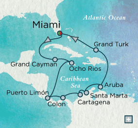 ALL SUITE CRUISE SHIPS - crystal cruises symphony 2015 Gems of the Caribbean Map
