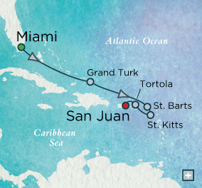 ALL SUITE CRUISE SHIPS - crystal cruises symphony 2018 Azure Escapes Map