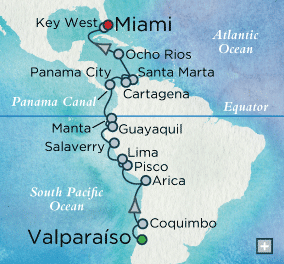 7 Seas Luxury Cruises - Crystal Cruises Symphony Incan Immersion Map