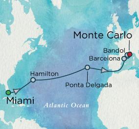 7 Seas Luxury Cruises - Passage into Spring Map Crystal Cruises Symphony
