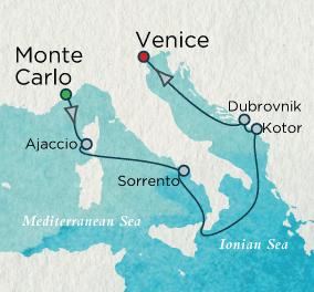 Mediterranean Sonata Map Crystal Luxury Cruises Symphony 2023