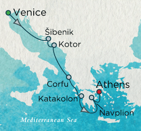 Adriatic Reflections Map Crystal Cruises Symphony 2016